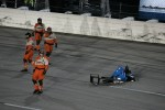 Ryan Briscoe, Team Penske Chevrolet and Josef Newgarden, Sarah Fisher Hartman Racing Honda crash