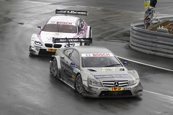 Christian Vietoris, Team HWA AMG Mercedes, AMG Mercedes C-Coupe, Andy Priaulx, BMW Team RBM BMW M3 DTM