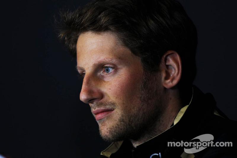 Romain Grosjean, Lotus F1 Team in the FIA Press Conference
