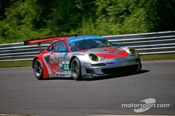 #44 Flying Lizard Motorsports Porsche 911 GT3 RSR: Marco Holzer, Seth Neiman