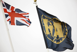 Union and FIA flags