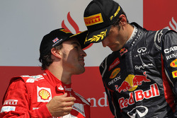 Fernando Alonso, Scuderia Ferrari and Mark Webber, Red Bull Racing