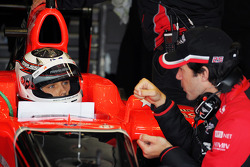 Max Chilton, Marussia F1 Team Test Driver with Marc Hynes, Marussia F1 Team Driver Coach