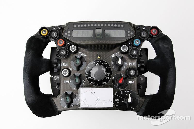 Sauber C31 steering wheel