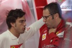 Fernando Alonso, Scuderia Ferrari with Stefano Domenicali, Scuderia Ferrari Sporting Director