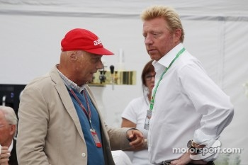 Niki Lauda, with Boris Becker, Tennis Legend