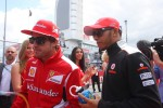 Fernando Alonso, Scuderia Ferrari and Lewis Hamilton, McLaren Mercedes