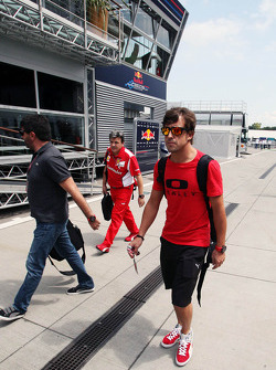 Fernando Alonso, Ferrari arrives in the paddock