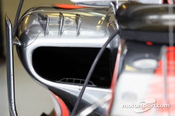 McLaren sidepod detail