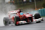 Fernando Alonso, Ferrari in the wet