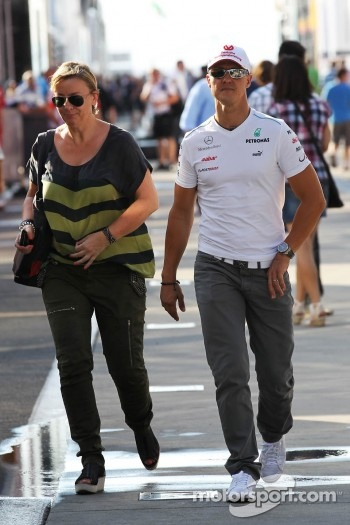 Michael Schumacher, Mercedes AMG F1 with Sabine Kehm, Manager