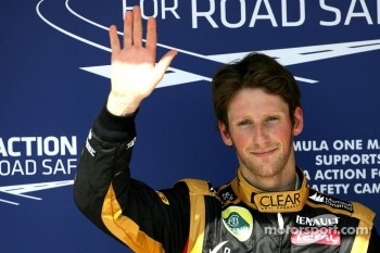 Second place qualifying for Romain Grosjean, Lotus F1 Team
