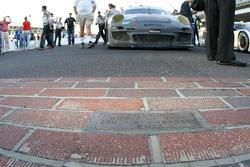 GT winners #44 Magnus Racing Porsche GT3: Andy Lally, John Potter