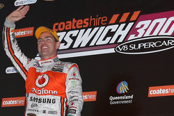 Podium: race winner Craig Lowndes