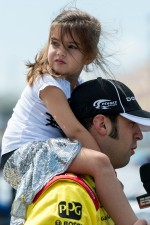 Sam Hornish Jr. with his daughter Addison