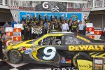 Victory lane: winner Marcos Ambrose celebrates