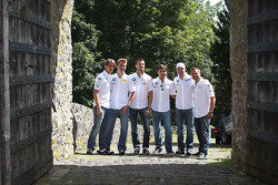 BMW factory drivers visit the top of the Nürburg castle