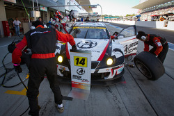 Pit stop for #14 Team SGC Lexus IS350: Ryo Orime, Alexandre Imperatori