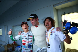 GT500 third place Hironobu Yasuda and Bjorn Wirdheim