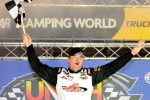 Victory lane: race winner Timothy Peters