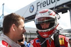 Frank Stippler celebrates second place