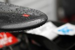 Rain drops on the Sauber nosecone