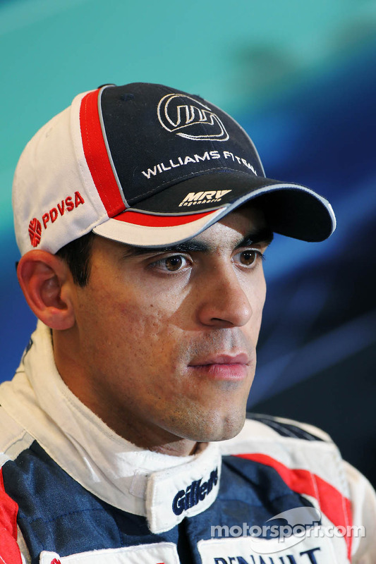 Pastor Maldonado, Williams in the post qualifying FIA Press Conference