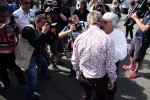 Eddie Jordan, BBC Television Pundit with Bernie Ecclestone, CEO Formula One Group