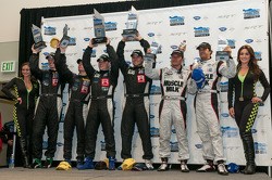 P1 podium: winners Michael Marsal, Eric Lux, second place Chris Dyson, Guy Smith, third place Klaus Graf, Lucas Luhr