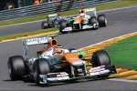 Nico Hulkenberg, Sahara Force India F1 leads team mate Paul di Resta, Sahara Force India
