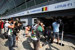 Media interest in Jerome d'Ambrosio, Lotus F1 Team