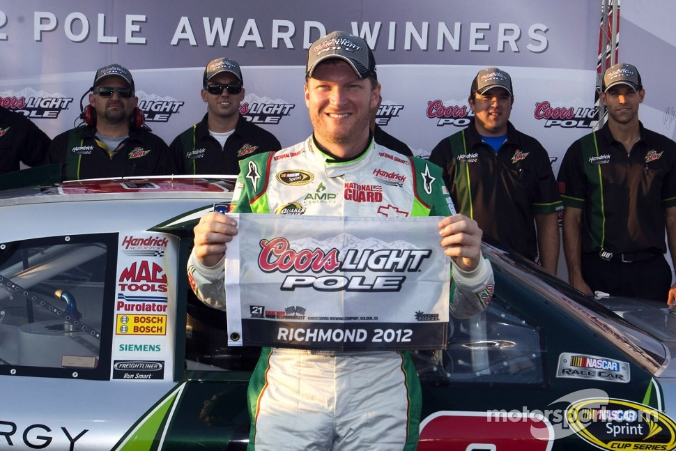 Pole winner Dale Earnhardt Jr., Hendrick Motorsports Chevrolet