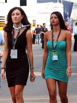 Women in the paddock