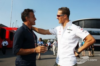 Jean Alesi, with Michael Schumacher, Mercedes AMG F1
