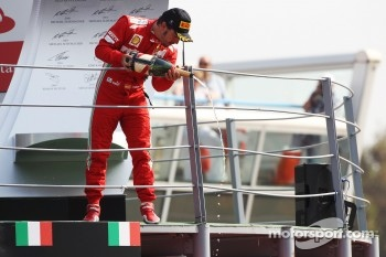 Podium: third place Fernando Alonso, Ferrari