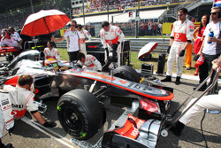 Lewis Hamilton, McLaren on the grid