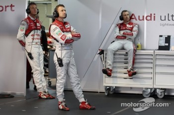 Allan McNish, Andre Lotterer, Tom Kristensen