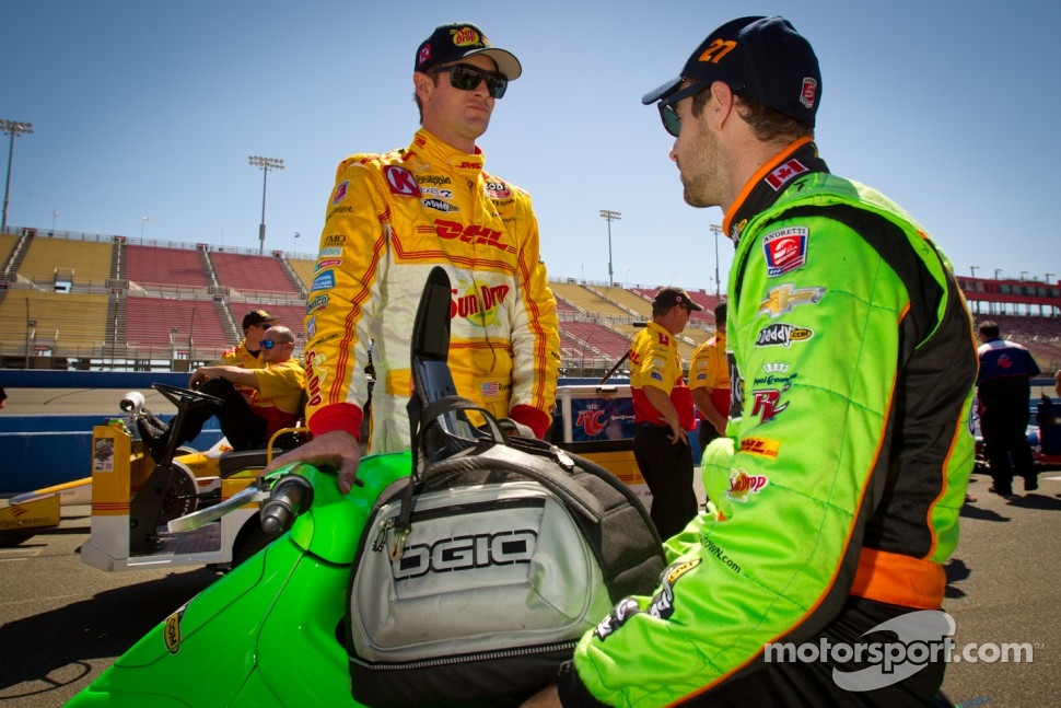 Ryan Hunter-Reay, Andretti Autosport Chevrolet and James Hinchcliffe, Andretti Autosport Chevrolet
