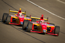 Carlos Munoz, Andretti Autosport and Sebastian Saavedra, AFS Racing
