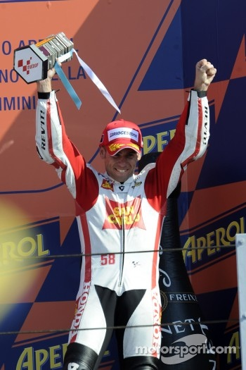 Podium: third place Alvaro Bautista, Honda Gresini
