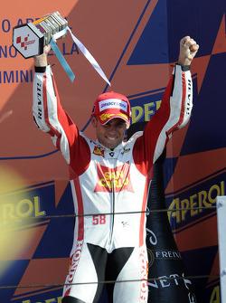 Podium: third place Alvaro Bautista, Honda Gresini