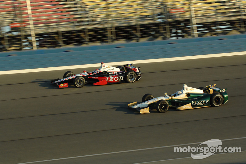 Ed Carpenter, Ed Carpenter Racing Chevrolet and Ryan Briscoe, Team Penske Chevrolet