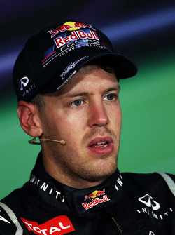 FIA press conference: race winner Sebastian Vettel, Red Bull Racing