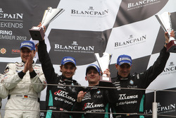 Podium: third place Greg Franchi, Frank Kechele, Mathias Lauda