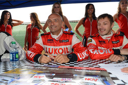 Autograph session, Gabriele Tarquini, SEAT Leon WTCC, Lukoil Racing Team and Alexey Dudukalo, SEAT Leon WTCC, Lukoil Racing Team