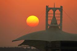 The sun sets over Bahrain circuit