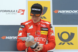 Podium: race winner Raffaele Marciello