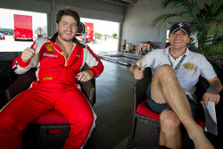Pole winner #24 Ferrari of Beverly Hills 458TP: Carlos Kauffmann with #007 Ferrari of Ontario 458CS: Robert Herjavec