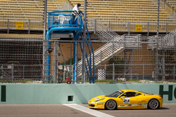 #23 Ferrari of Central Florida 458TP: Onofrio Triarsi takes the checkered flag