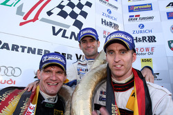 Second place Timo Bernhard, Romain Dumas and Jochen Krumbach